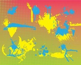 Grunge Stains background vector