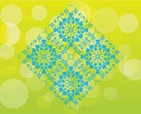 Floral Pattern Tile background vector graphics