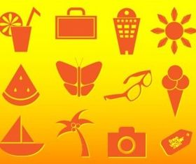 Summer Travel Icons vector set