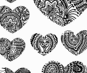 Paisley Hearts Illustration vector