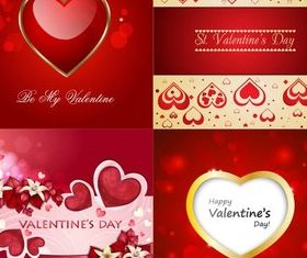 Valentine Backgrounds 4 vector