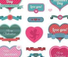 Valentines Labels vectors material