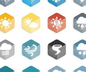 Flat Weather Icons vector