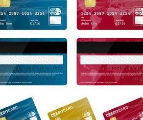 Credit Bank Cards vector
