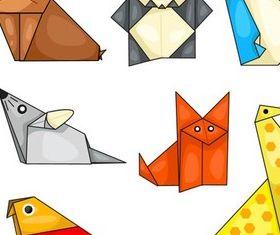 Origami Animals vectors material