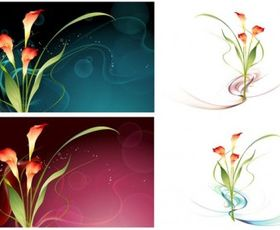 Dream flowers vectors