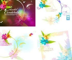 Dream flowers 02 vectors graphics