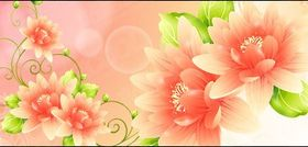 Dream with flowers vector