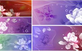 Dream flowers 03 vector