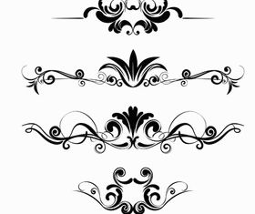 Calligraphic Floral Dividers vector graphics