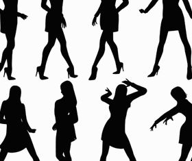 Women Silhouettes Set design vector