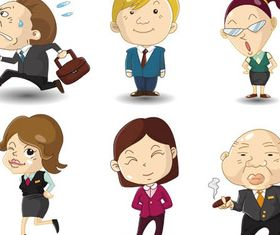 Cartoon Business People 7 vector