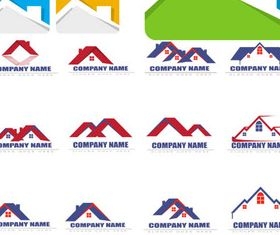 Real Estate Logo Set 8 vector
