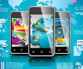 Infographic with Modern Devices creative vector