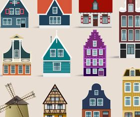 Country Houses Set 2 set vector