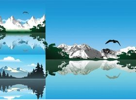 lake Free set vector
