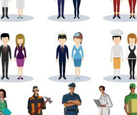 Cartoon Workers 3 vector graphic