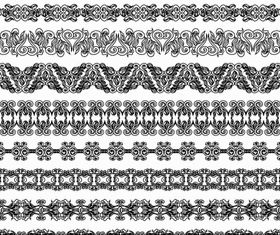 Vintage Ornamental Borders 22 vector set