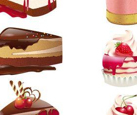 Realistic Cakes vectors