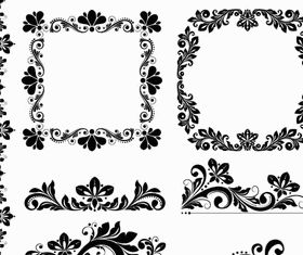 Ornamental Floral Elements 3 vector