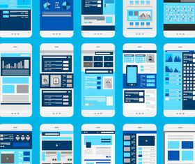 Mobile Flat UI vector graphics