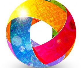 Colorful abstract globe Free vector graphics