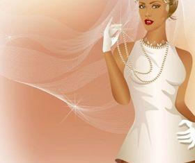 Charm bride wedding 02 vector
