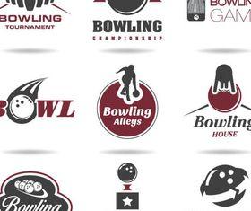 Bowling Labels vectors graphic