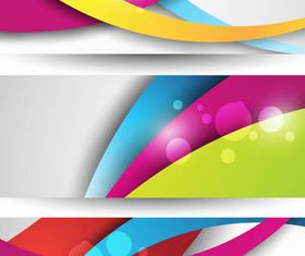 Abstract Banners 5 vector