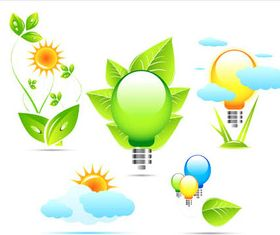 Ecology Elements Set vector