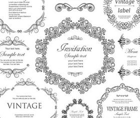 Ornamental Vintage Labels 5 vector