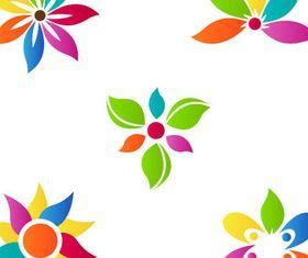 Flowers Logotypes vectors material