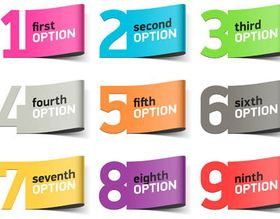 Steps and Options Elements vector