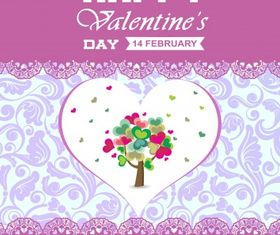 Happy valentines background Free vectors material