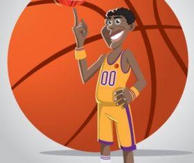 Basketball player Free vector graphics