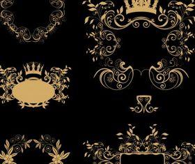 Golden frames vector