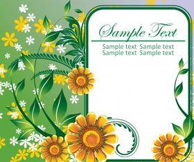 Floral frame 3 Illustration vector