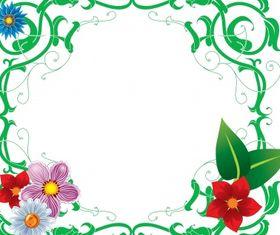 Floral frame 5 vector