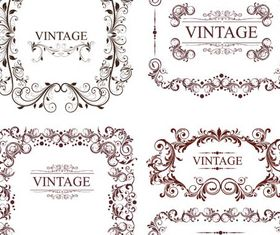 Vintage Ornamental Frames 8 vector