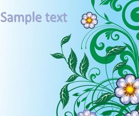 Floral Border shiny vector