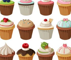 Cakes and Macaroons design vector