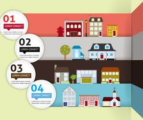 Real Estate Backgrounds 13 design vector