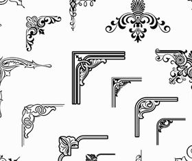 Ornamental Vintage Corners 16 vector