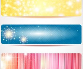 Abstract banner set vector graphic