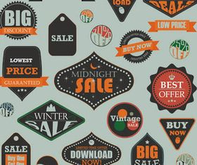 Sale Labels free vector graphics