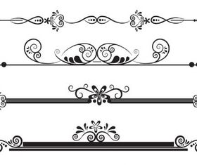 Vintage Ornamental Dividers 12 vectors graphics