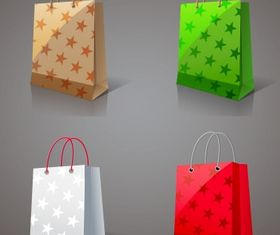 Paper shopping bags Free creative vector
