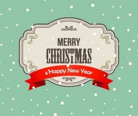 Christmas and new year vector material