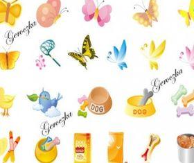 Cartoon icon vectors graphics