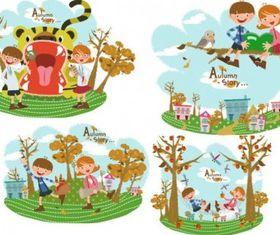 Autumn tale 3 vector
